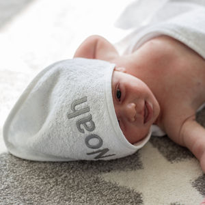 Personalised Hooded Baby Towel Wrap