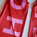 Red And Pink Bold Personalised Silk Scarf