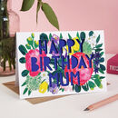 Happy Birthday Mum Floral Paper Cut Card