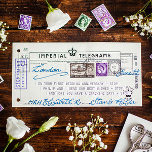 Personalised Message Telegram - wedding cards