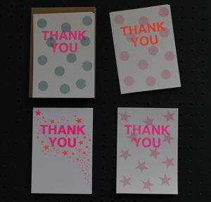A Pack Of 12 Riso Print Thank You Postcards - shop by category