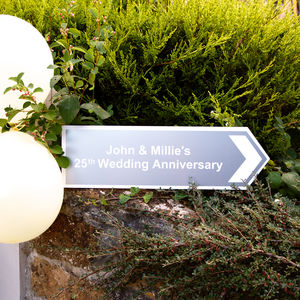 Personalised Anniversary Directional Sign