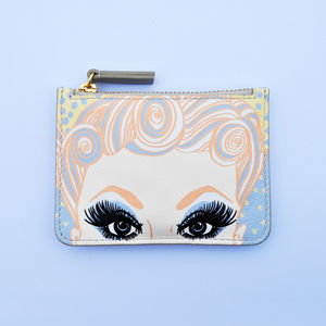 Dolly's Salon Print Leather Purse