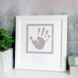 Personalised Baby Hand And Poem Print