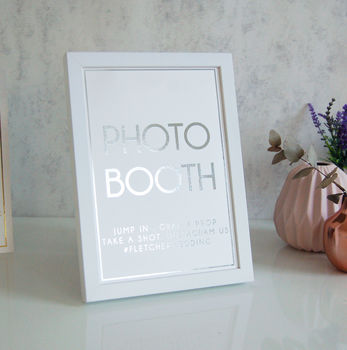 Silver Foil Personalised Wedding Sign Photo Booth