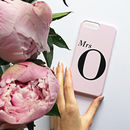 Dusty Pink Mrs Monogram Phone Case