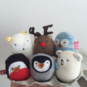 Christmas Egg Pets - stocking fillers