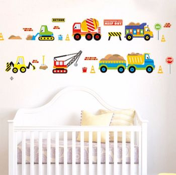 Boys Digger Wall Stickers