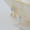 Pearl And Crystal Wedding Necklace And Earring Set