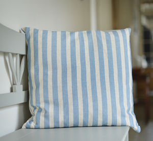 100% Linen Blue Cushion - cushions
