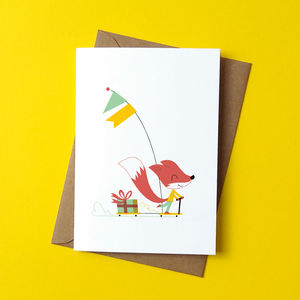 Scooter Ride Greetings Card