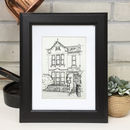 Personalised House Portrait Line Drawing