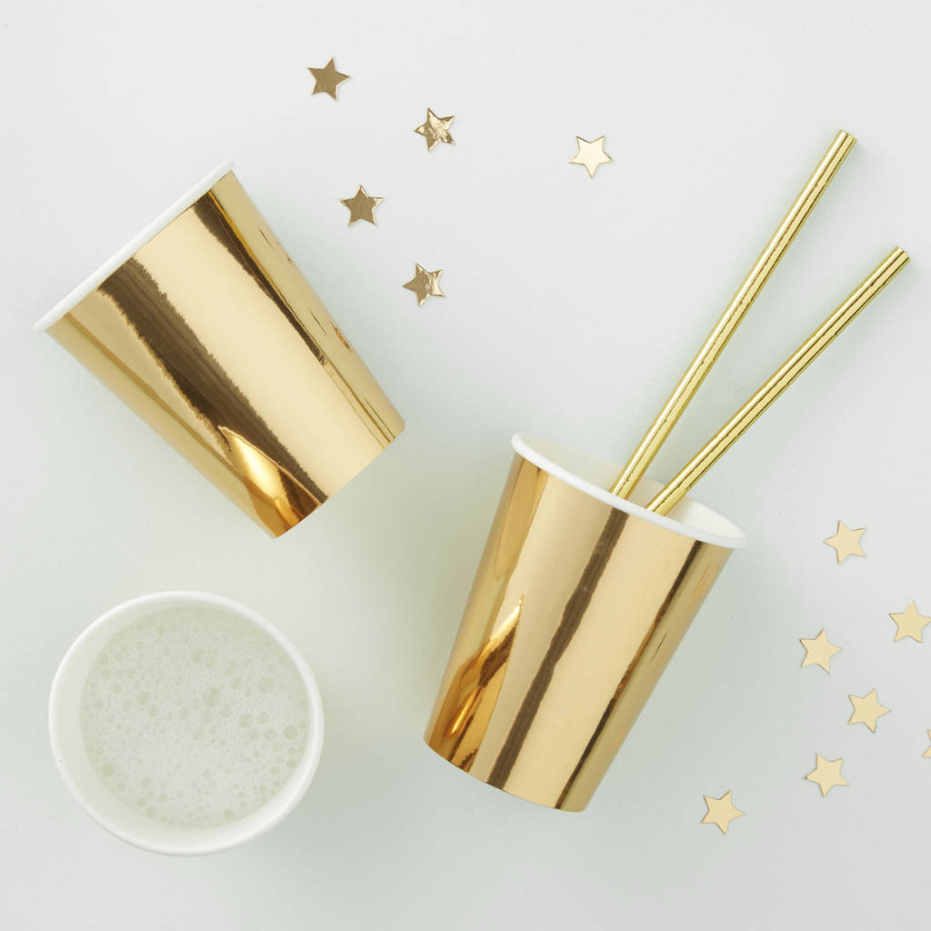 Gold Foiled Party Paper Cups