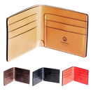 Personalised Leather Traditional Wallet Colour Range Open