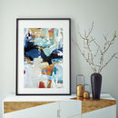 Abstract 299 Blue Abstract Art Print Wall Art