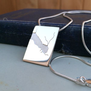 Men's Coastline Pendant - necklaces