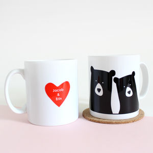 Bear Couple 'Selfie', Personalised Mug - personalised gifts for him