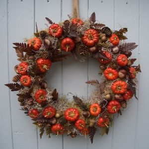 Halloween Autumn Pumpkin Wreath - top halloween picks