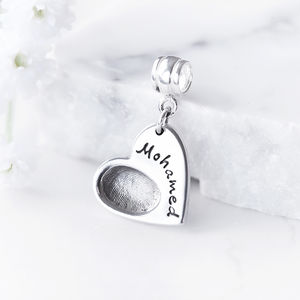 Personalised Fingerprint Charm - personalised