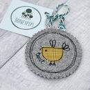 Yellow bird key ring