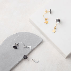 Dark Moon Swing Stud Earrings