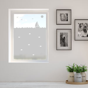 Little Boat Frosted Window Film - window film