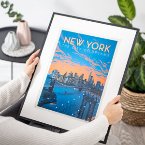 New York The City Of Dreams Travel Print