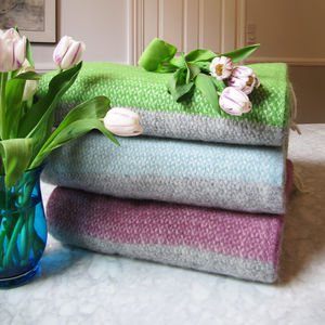 Stripy Wool Blanket - blankets & throws
