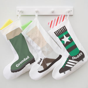 'Shoe' Christmas Stocking For Him - storage bags