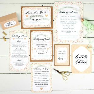 Floral Keepsake Wedding Stationery Range - order of service & programs