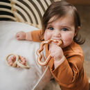 Rose Gold Silicone Cloud Teether