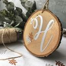 Monogram Wood Slice Hanging Decoration