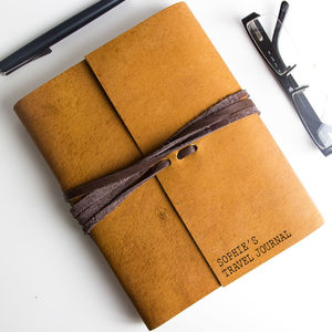 Personalised Handmade Soft Leather Journal