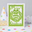 Merry Christmas From Personalised Wreath Printed Card