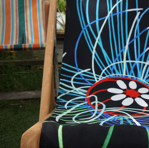 Art Print Deckchair Ultraviolet Jellyfish - garden furniture