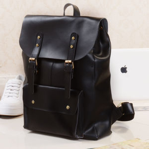 Personalised Military Style Leather Backpack - men's accessories