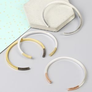 Dipped Bar Bangle - stocking fillers for her