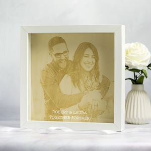 Personalised Engraved Wood Framed Photo