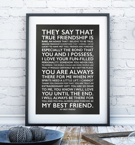 Personalised Favourite Words Poster