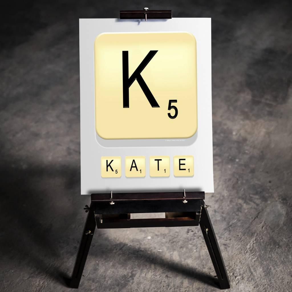 Personalised Letter Tile Print