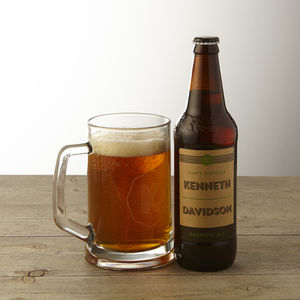 Personalised Real Ale And Engraved Tankard - gifts for brothers