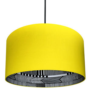 Marimekko Silhouette Lampshade In Sunshine Yellow - lighting