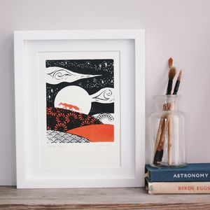 Red Fox Returns Original Screen Print
