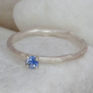 Ceylon Sapphire Ring In Silver - engagement rings
