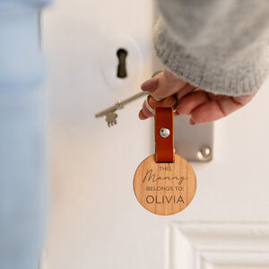 Personalised 'This Mummy Belongs To:' Keyring For Mum