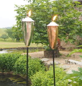 Garden Oil Torch Choose Copper Or Silver