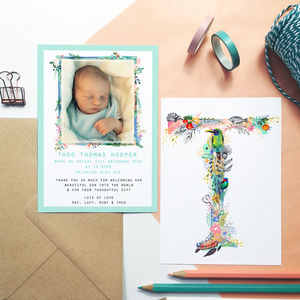New Baby Announcement Thankyou Cards - thank you cards