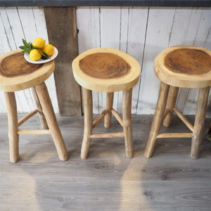 Wooden Kitchen Stool Two Sizes