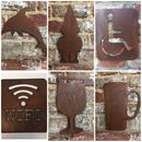 Rusted Silhouette Sign Shapes