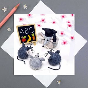 Learning Is Fun Mouse Greeting Card